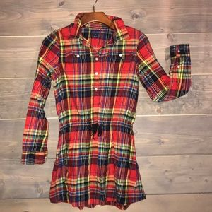 Ralph Lauren plaid flannel dress
